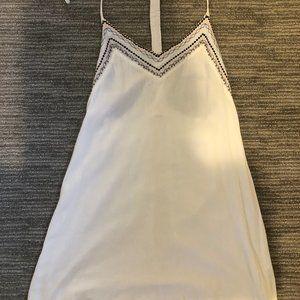 Open back, V-neck summer mini dress